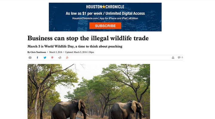 Houston Chronicle Errs in Tying Hunters to the Illegal Wildlife Trade