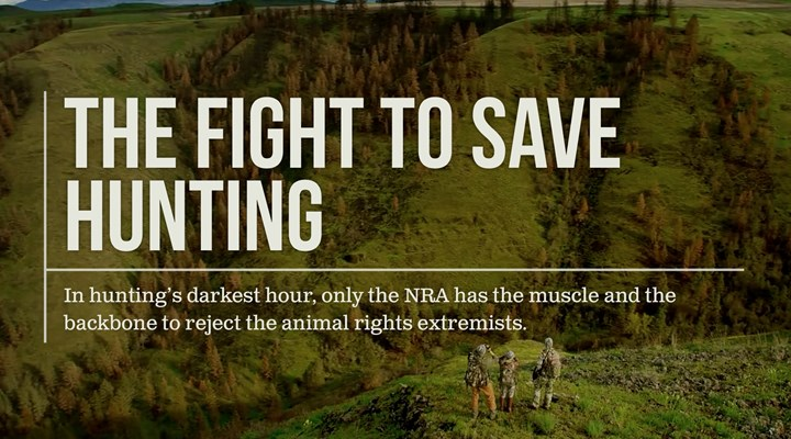 NRAHUNTING.COM Houses NRA's Campaign to Save Hunting
