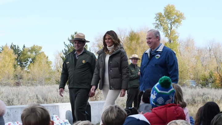 "First Lady and Interior Secretary Promote ""Every Kid Outdoors"""