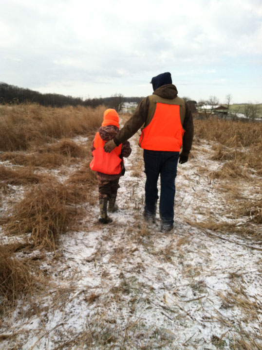 Sure, hunting means you don't always take a deer, but don't wait so long that the youth you're mentoring loses interest. (Image courtesy of Maryland Department of Natural Resources.)