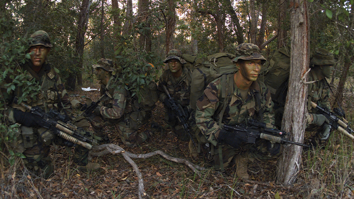 U.S. Marines on reconnaissance mission