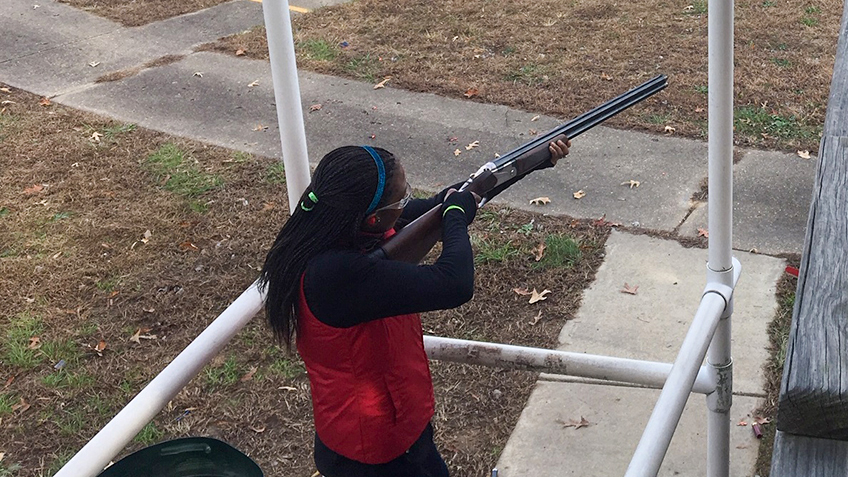 USFWS Director Aurelia Skipwith shoots sporting clays